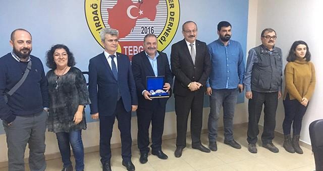 AYDIN'DAN GAZETECİLER DERNEĞİ'NE ZİYARET