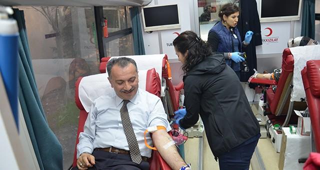 Çerkezköy'de Kök Hücre ve Kan Bağışı kampanyası