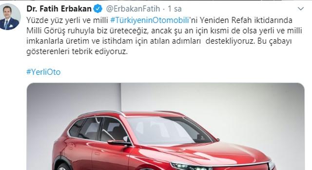 """ERBAKAN: """"DAHA İYİSİNİ BİZ ÜRETECEĞİZ!"""""""