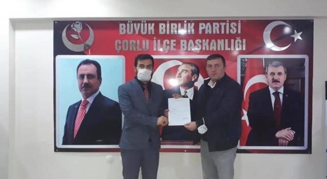 BBP'DEN ÇORLU'YA YENİ KAN