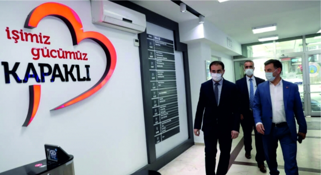 KAYMAKAM BAYRAM SAĞIR, BAŞKAN ÇETİN'İ ZİYARET ETTİ