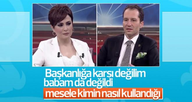 Fatih Erbakan başkanlık sistemini yorumladı