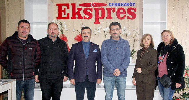 CHP ÇERKEZKÖY İLÇE YÖNETİMİNDEN EKSPRES GAZETESİ'NE ZİYARET