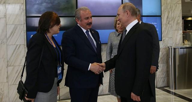 ŞENTOP, RUSYA DEVLET BAŞKANI PUTİN'LE GÖRÜŞTÜ