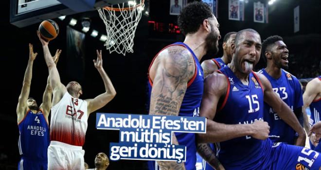 Euroleague'de Anadolu Efes Armani Milan'ı mağlup etti