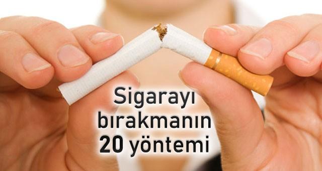 SİGARAYI BIRAKMANIN 20 YOLU