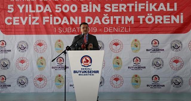 """""""CEVİZDE ÜRETİMİ 400 BİN TONA ÇIKARMAYI HEDEFLİYORUZ"""""""