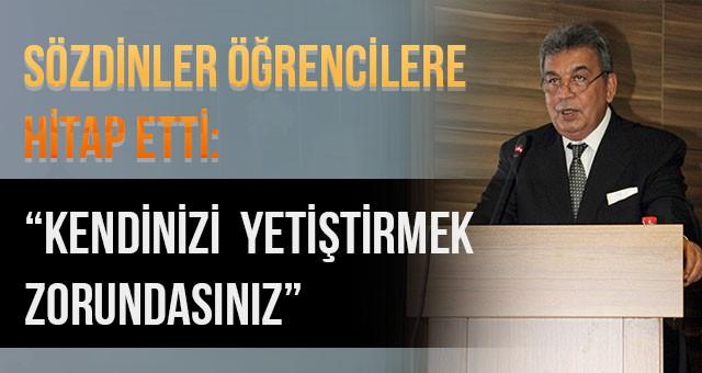"""""""KENDİNİZİ YETİŞTİRMEK ZORUNDASINIZ"""""""