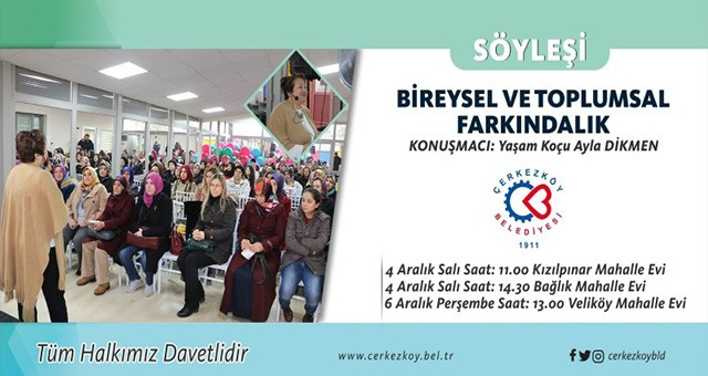 'BİREYSEL VE TOPLUMSAL FARKINDALIK' SEMİNERİ DÜZENLENECEK