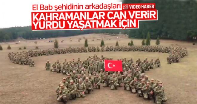 Şehit Üsteğmen Koçoğlu'nun birliğinden anlamlı video