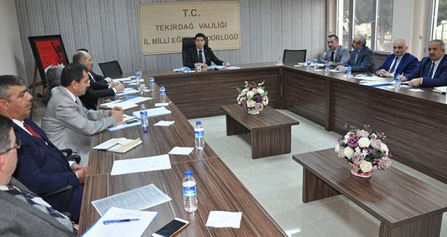 İlçe Milli Eğitim Müdürleri Kurulu Toplantısı Yapıldı