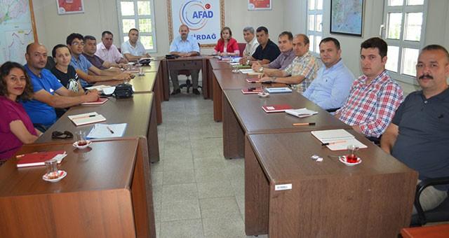 AFAD PERSONELLERİ TEKİRDAĞ'DA TOPLANDI