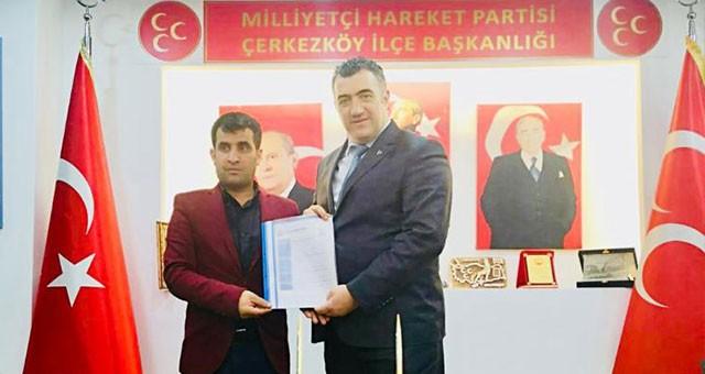 MHP BELEDİYE MECLİS ÜYELİĞİNE 'TEKİN' ADAY