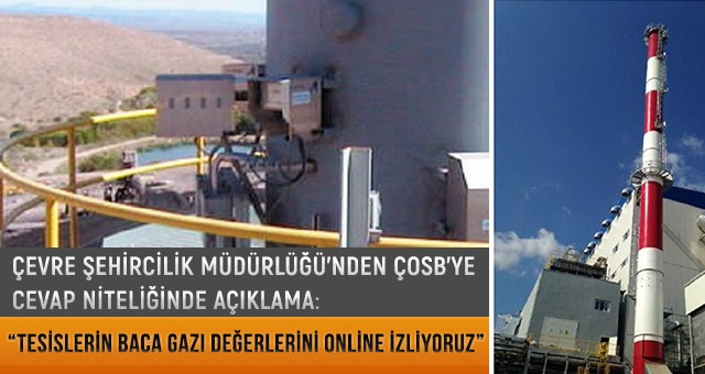 """""""TESİSLERİN BACA GAZI DEĞERLERİNİ ONLİNE İZLİYORUZ"""""""