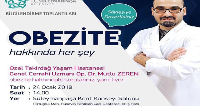 """OBEZİTE HAKKINDA HER ŞEY ANLATILACAK"""