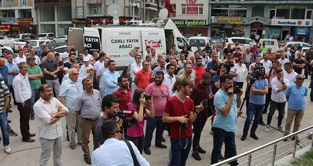 SARAY'DA, BELEDİYE PROTESTO EDİLDİ