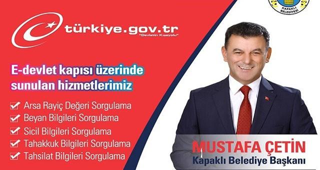 KAPAKLI BELEDİYESİ ARTIK E-DEVLET'TE