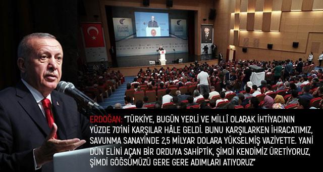 """ERDOĞAN: """"TÜRKİYE'Yİ 81 VİLAYETİNİN TAMAMIYLA EKONOMİDE ŞAHA KALDIRMANIN PEŞİNDEYİZ"""""""