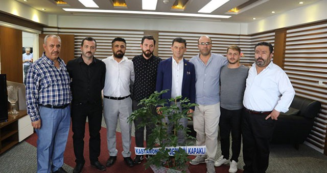 KASTAMONULULARDAN BAŞKAN ÇETİN'E ZİYARET