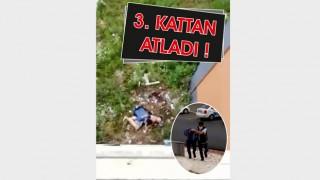 POLİSTEN KAÇARKEN, 3. KATTAN ATLAYIP BELİNİ KIRDI