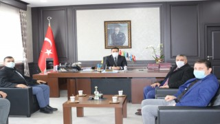DEVA PARTİSİ'NDEN KAYMAKAM HAMİTOĞLU'NA ZİYARET