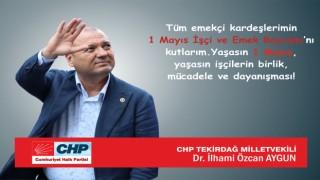"""AYGUN: """"YAŞASIN 1 MAYIS!"""""""
