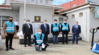 ÇOSB, 350 KOLİ BAĞIŞ YAPTI
